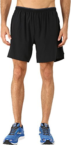 "Brooks Men's Sherpa 7"" 2-in-1 Shorts Black Shorts MD X 7"