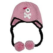 Huggalugs Baby and Todder Girls Jolly Pink Pirate Beanie Hat M