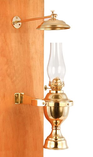 Vermont Lanterns Brass Nautical Gimbal Yacht Lamp with Smoke Bell 12
