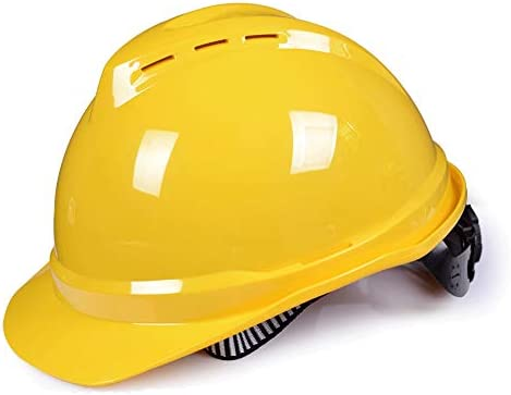 高所作業用、工事用ヘルメットに適しています (Color : Yellow)