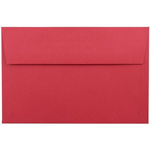 "UPC 609722704984, JAM Paper A9 Invitation Envelopes- 5 3/4"" x 8 3/4"" - Brite Hue Christmas Red - 25/pack"