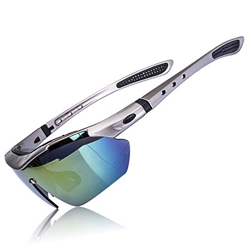 AOKNES Polarized Sports Sunglasses for Men Women Fishing Running Sport Glasses ()
