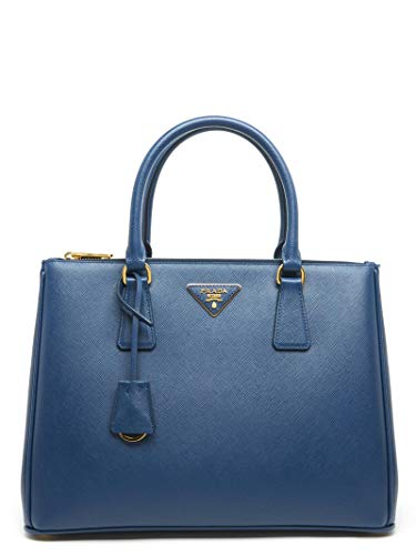 Prada Women's 1Ba274doonzvf0016 Blue Leather Handbag