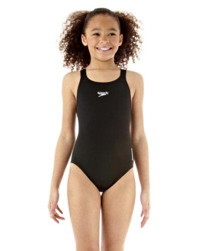 Speedo Girls Endurance Plus Medalist Swimsuit in Black or Red