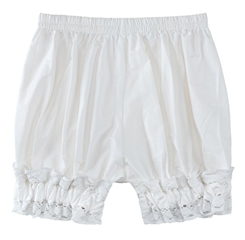 (Sheface Women's Cotton Lace Hem Bloomers Lolita Shorts (X-Large,)