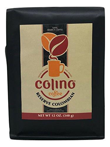 Exotic Natural Reserve Colombian Whole Bean Coffee Bag, Premium Gourmet Single Origin, Sun Dried, Artisan Roasted, Medium Roast, Colino Coffee. (12 Ounce)