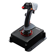 Flashfire Cobra V5 Flight Simulation Joystick with Hall Sensor Technology, Dedicated Throttle Control