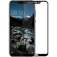 Microcase Huawei Honor Play Tam Kaplayan Çerçeveli Tempered Ekran Koruyucu - Siyah