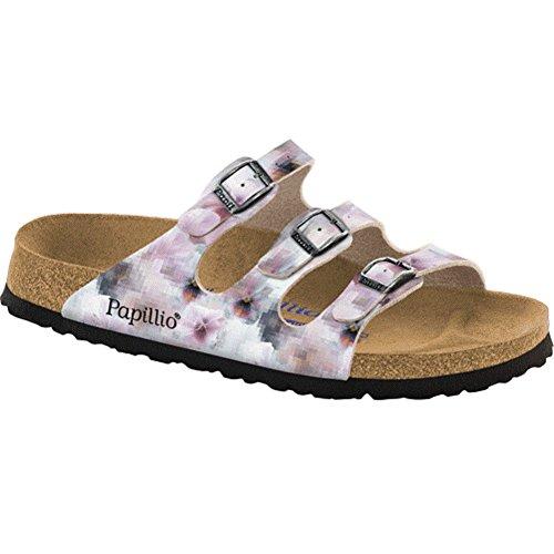 Birkenstock Women's Florida Pixel Rose Birko-Flor Sandal - Birkenstock Floral Sandals