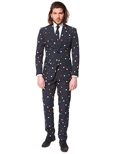 OppoSuits Funny Everyday Suits for Men - PAC-Man - Comes with Jacket, Pants and Tie - US ()