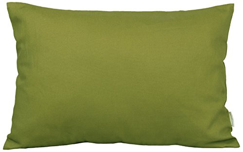 "TangDepot Cotton Solid Throw Pillow Covers, 12"" x 20"" , Oliv"