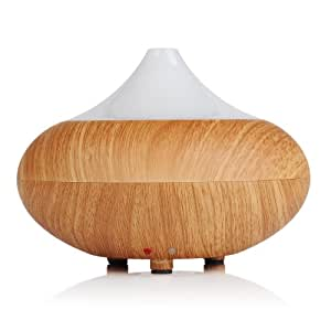 [New Generation]VicTsing Mini 140ML Electric Aromatherapy Essential oil Diffuser Cool Mist Humidifier with Color LED light, Whisper-Quiet - Light Brown