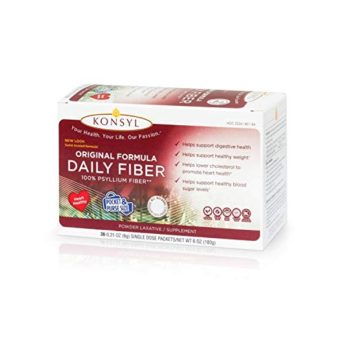 Konsyl Original Formula Daily Fiber, 100% All Natural Psyllium Husk Powder ()