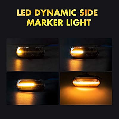 2 pieces Led Dynamic Side Marker Turn Signal Light Sequential Blinker Lights For Audi A3 S3 8P A4 S4 RS4 B6 B7 B8 A6 S6 RS6 C5 C7 2003-2011 Black Indicator Lamp: Automotive