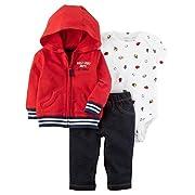 Carter's Baby Boys' 3-Piece Half Pint Sport Little Jacket Set 3 Months Red