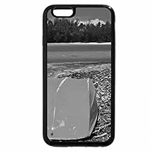 iPhone 6S Plus Case, iPhone 6 Plus Case (Black & White) - Yellow Boat in Rarotonga South Pacific