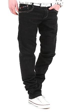 92495456fbb4 Kosmo Lupo Jeans Schwarz KM030  Schwarz, W29 L32   Amazon.de  Bekleidung