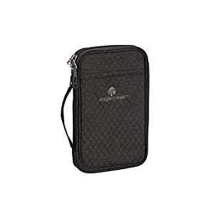 Eagle Creek Rfid Travel Stylish Passport Holder Credit Card Organizer, Black/Charcoal