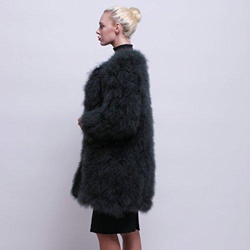 URSFUR - Abrigo - para mujer Opal Grün