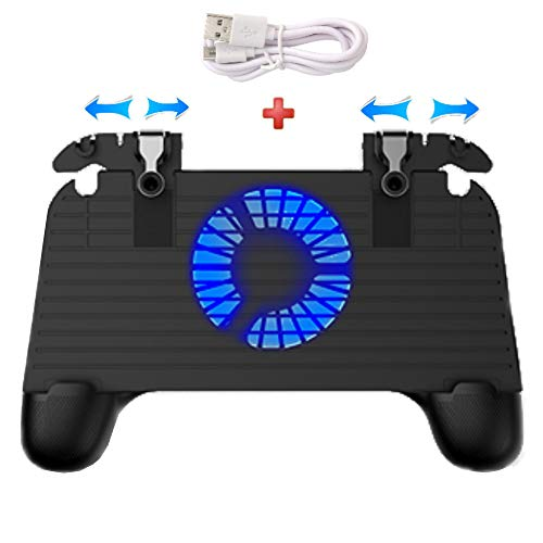 Mobile Game Controller [Upgrade Version] Mobile Gaming Trigger for PUBG/Fortnite/Rules of Survival Gaming Grip and Gaming Joysticks for 4.5-6.5inch Android iOS Phone (Mobile Game Controller.) (In The Hands Of A Child Coupon Code)