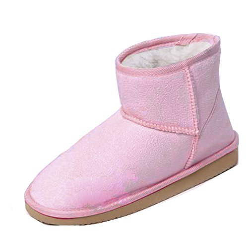 New Soft 7 Faux Snow Winter Womens 5 5 Suede Fashion Popular Pink Boots Warm Gaorui Shoes 1dqnSq