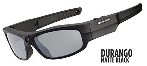 Pivothead 1080 Hd 8mp Video Recording Camera Polarized Hand-free Sunglasses, Durango Matte - Recording Video 1080p Sunglasses Pivothead
