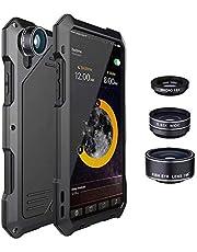 QfireQ Métal stöttåligt skal för Samsung s9/s9plus med SLR-kameraobjektiv 360° fullt skydd vattentät dammtät reptålig rustning mobiltelefon skal