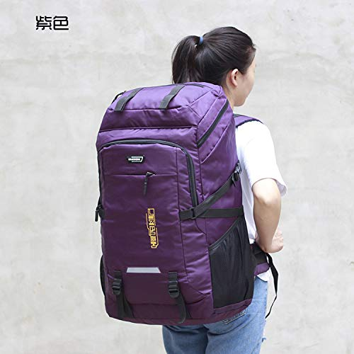 Violet violet 80L imperméable à l'Eau Unisexe Hommes Sac à Dos Voyage Pack Sport Sac Pack de plein air Alpinisme randonnée Escalade Camping Sac à Dos pour Homme Vert d'armée