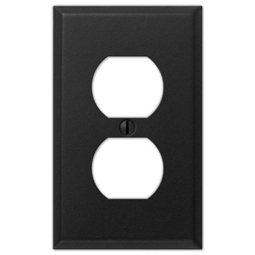 Black Iron Steel - 1 Duplex Outlet Wallplate Creative Accents Wall Plate