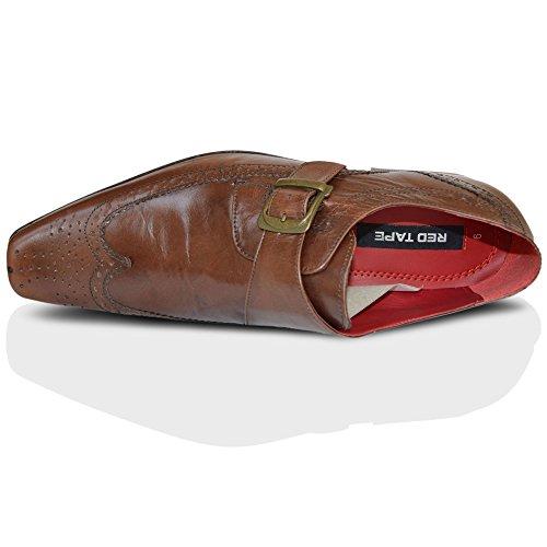 11 Ruban Noir Bout Rouge Hammond Pointu Chaussures Brogue Moine 7 Boucle Brun Uk Hommes Cuir OxaAgqwa