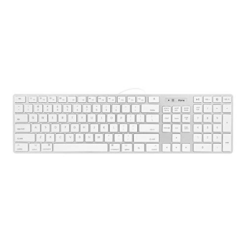 iHome Full Size Mac Keyboard - Apple IOS Mac iMac Windows Desktop PC Laptop - Wired (Ihome Bluetooth Keyboard Case For Ipad 2 Instructions)