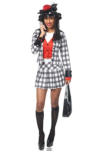 Adult Stacie Notionless BFF Costume, Small, Black/White