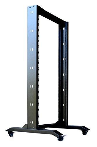 18U Open Frame 2 Post Server IT Network Data Rack HQ Relay on Casters Sysracks