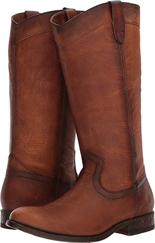 FRYE Women's Melissa Pull-On Cognac Washed Oiled Vintage 6 B US
