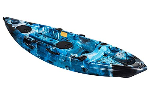 Koastal Kayak DE Pesca ECONÓMICO. Mod Ares 275x80x40 cm. Azul Camuflaje. Incluye Asiento Acolchado, 2 tambuchos y Remo de Aluminio: Amazon.es: Deportes y ...