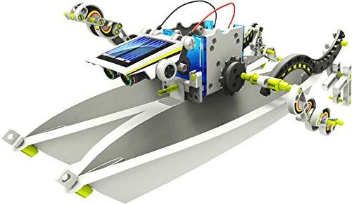 41FecM8B5dL - Elenco Teach Tech SolarBot.14, Transforming Solar Robot Kit, STEM Learning Toys for Kids 10+