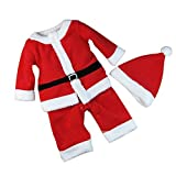 Boys Girls Classic Christmas Santa Claus Clothes Sets Baby Xmas Suits(Toddler/Little Kid)