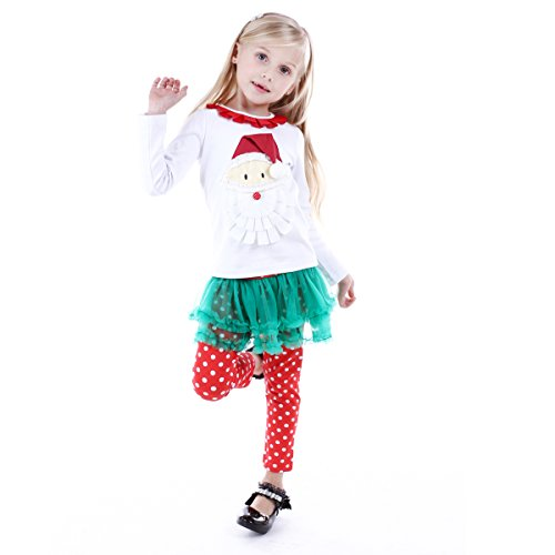 [Bebone Baby Girls Santa Claus Cotton Outfits (Santa,5T)] (Christmas Outfit)