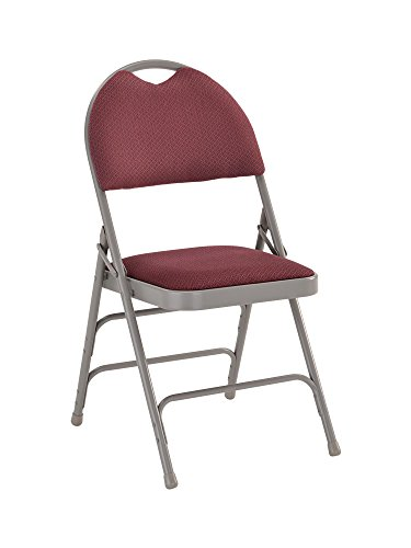 Offex OF-HA-MC705AF-3-BY-GG Hercules Series Extra Large Ultra-Premium Triple Braced Burgundy Fabric Metal Folding Chair with Easy Carry Handle by Offex