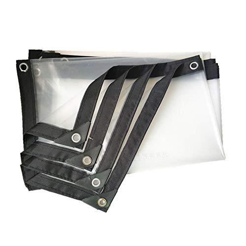 HYJHDD Ultra Light Goods car Awning Cloth Waterproof Thick Plastic Sheet Thickening Edge Waterproof Tarpaulin Transparent Plastic Waterproof Cloth Rainproof Cloth Cloth,3mx10m ()