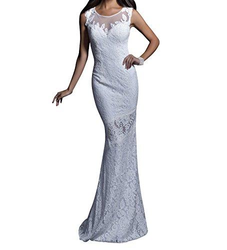Meerjungfrau Spitze Abendkleider Braut Kleider mia Lang Weiß Jugendweihe Promkleider Abschlussballkleider La Festlichkleider Rosa wtXxIqgxf