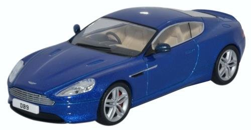 Aston Martin Db9 Coupe (Oxford Diecast 43AMDB9003 Aston Martin DB9 Coupe Cobalt Blue 1:43 Scale Model in Acrylic Display Case)