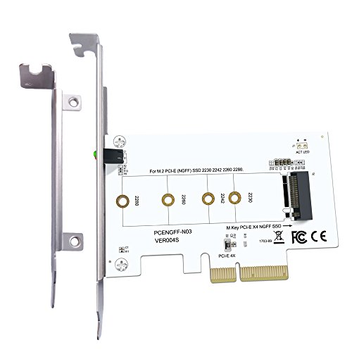EXPLOMOS M Key PCIE X4 Adapter M.2 PCIE to PCIE 3.0 X4 Adapter for PCIE (NGFF) SSD 2230 2242 2260 2280 by EXPLOMOS