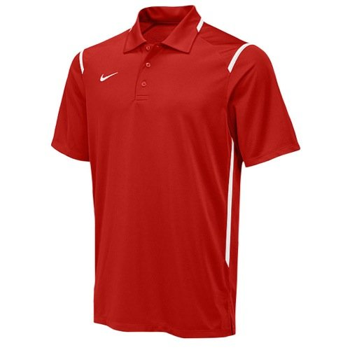 Nike Mens Dri-Fit Game Day Short Sleeve Polo T-Shirt (XX-LARGE, RED/WHITE) (Nike Dri Fit Game)