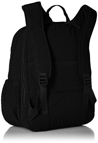 41FeeVabvFL - Vera Bradley Iconic Campus Backpack, Microfiber, Classic Black