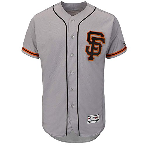 Majestic Buster Posey San Francisco Giants MLB Youth Gray Alternate Cool Base Replica Player Jersey (Youth Small 8)
