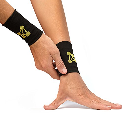 CopperJoint Copper Wrist Support, #1 High Performance Compression Band - GUARANTEED Recovery from Pain, Sprains, Carpal Tunnel, Bursitis, Tendonitis, Arthritis - Unisex Brace (Pair - (Additional Latex Free Bands)