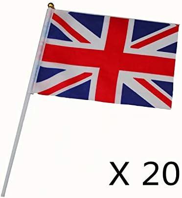 amscan 3 Drapeaux de la Grande-Bretagne.