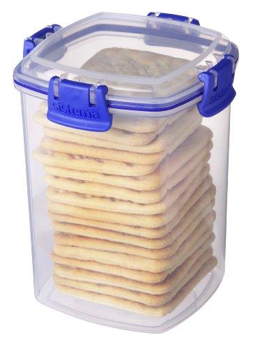 اسعار Sistema Klip It Collection Cracker Food Storage Container, Medium, 30 Ounce/ 3.75 Cup