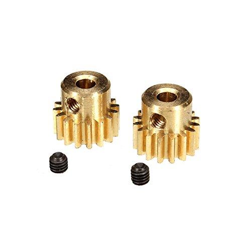 Utini HBX 1/12 12528 Brushless Motor Pinion Gears 16T Set Screws 3x3mm 2PCS Upgraded Parts